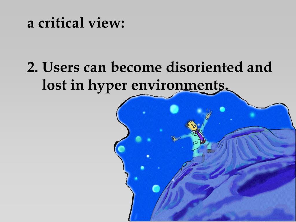a critical view: