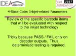 4 state code inkjet related parameters