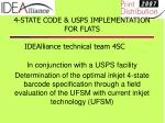 4 state code usps implementation for flats idealliance technical team 4sc8