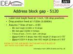 address block gap 5120