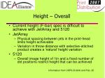height overall19