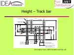 height track bar