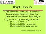 height track bar24