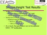 shorter height test results