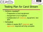 testing plan for carol stream15