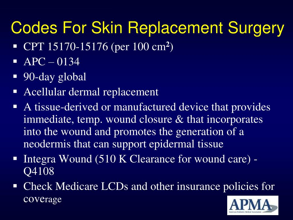 Codes For Skin Replacement Surgery