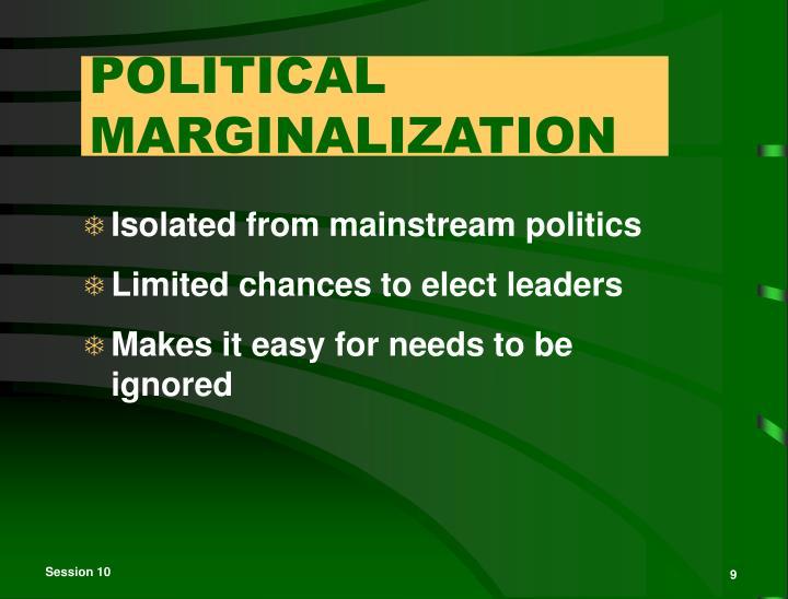 POLITICAL MARGINALIZATION