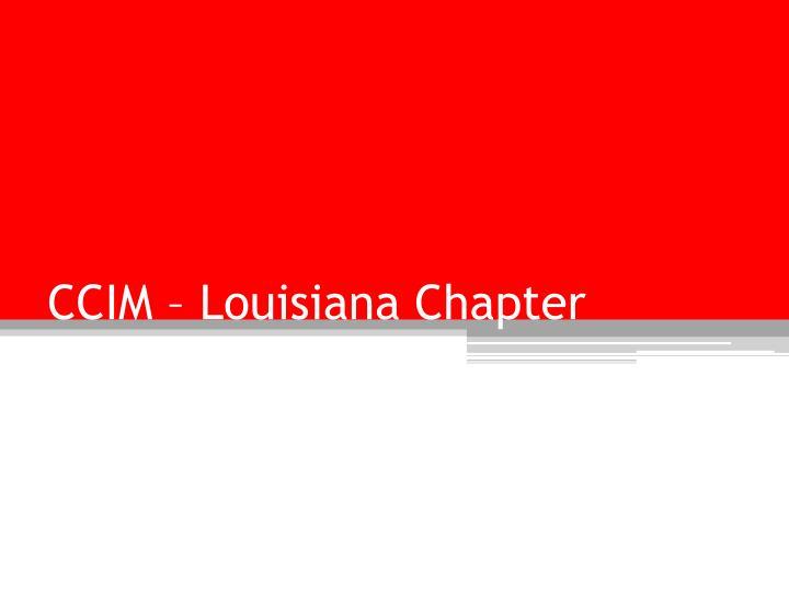 CCIM – Louisiana Chapter