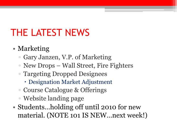 The latest news1