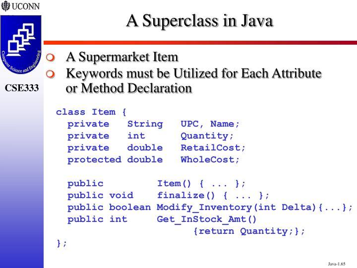 A Superclass in Java