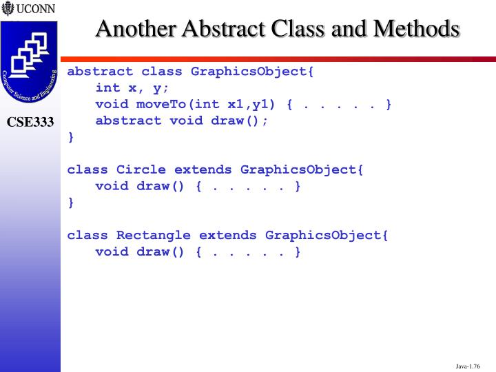 Another Abstract Class and Methods