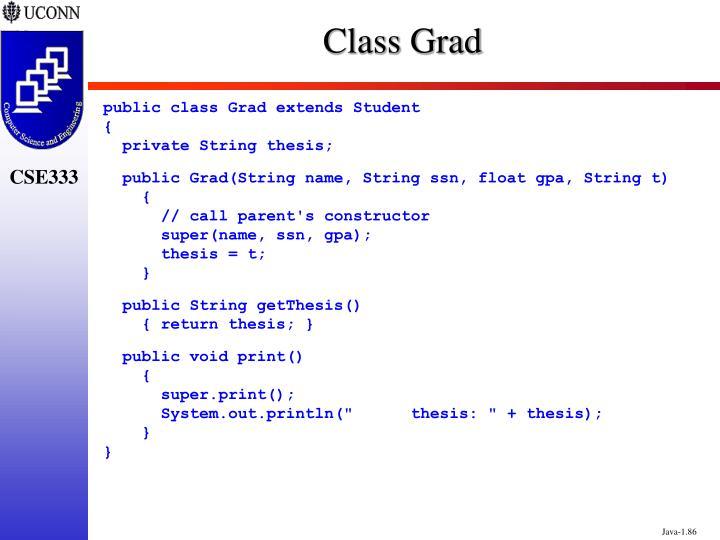 Class Grad