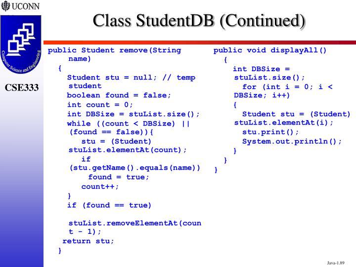 public Student remove(String name)