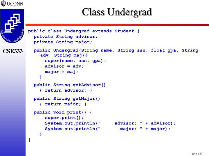 Class Undergrad