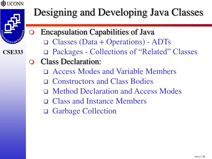 Designing and Developing Java Classes