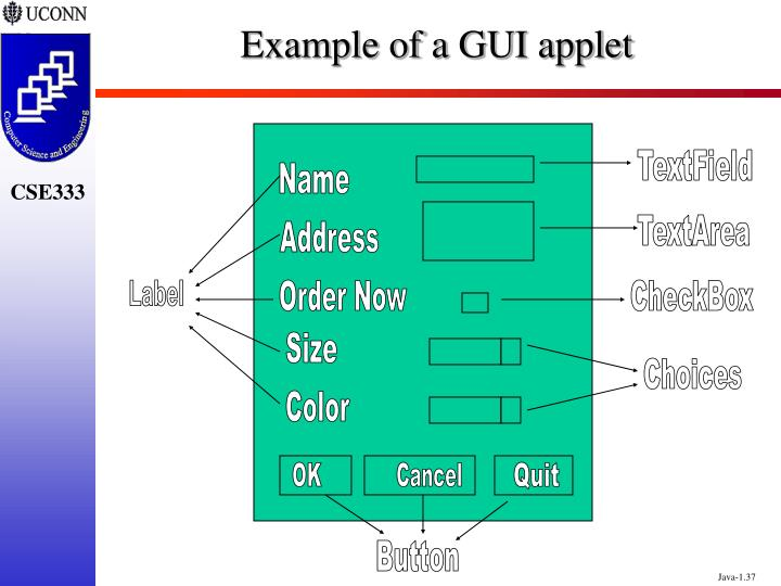 Example of a GUI applet