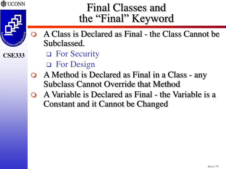 Final Classes and