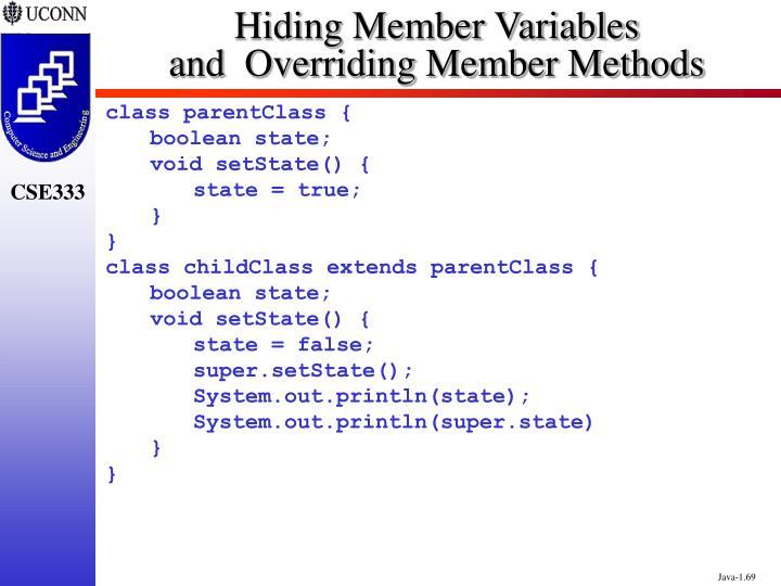Hiding Member Variables