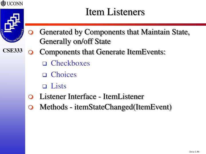 Item Listeners