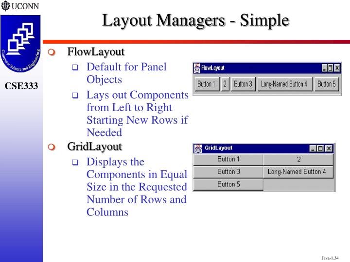 Layout Managers - Simple