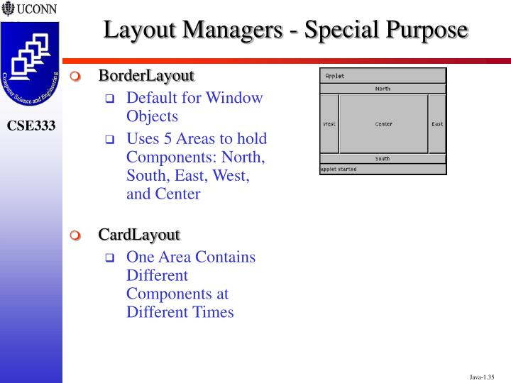 Layout Managers - Special Purpose