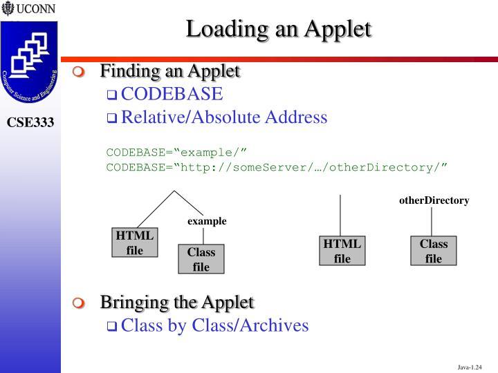 Loading an Applet