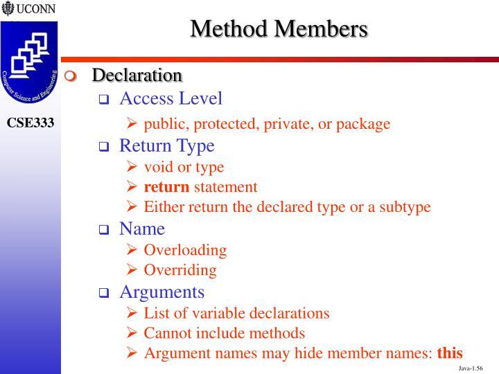 Method Members