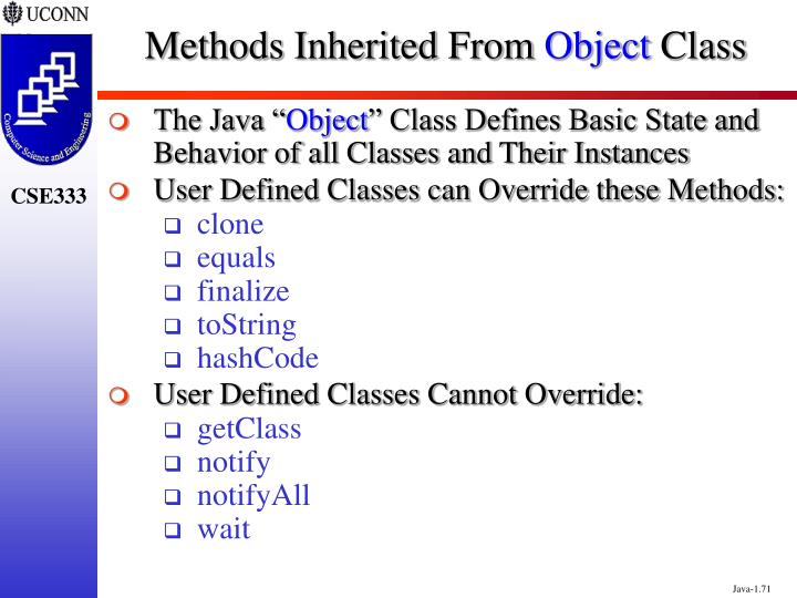 Methods Inherited From
