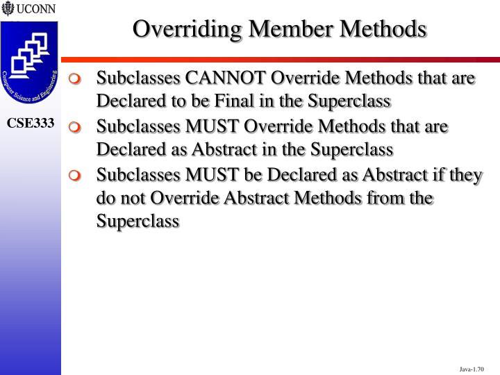 Overriding Member Methods