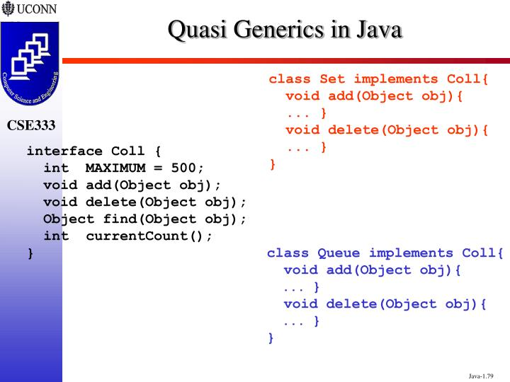 Quasi Generics in Java