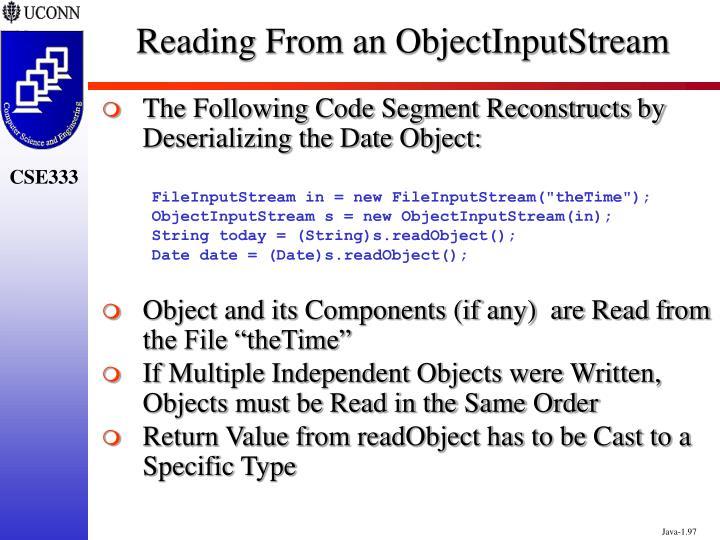 Reading From an ObjectInputStream