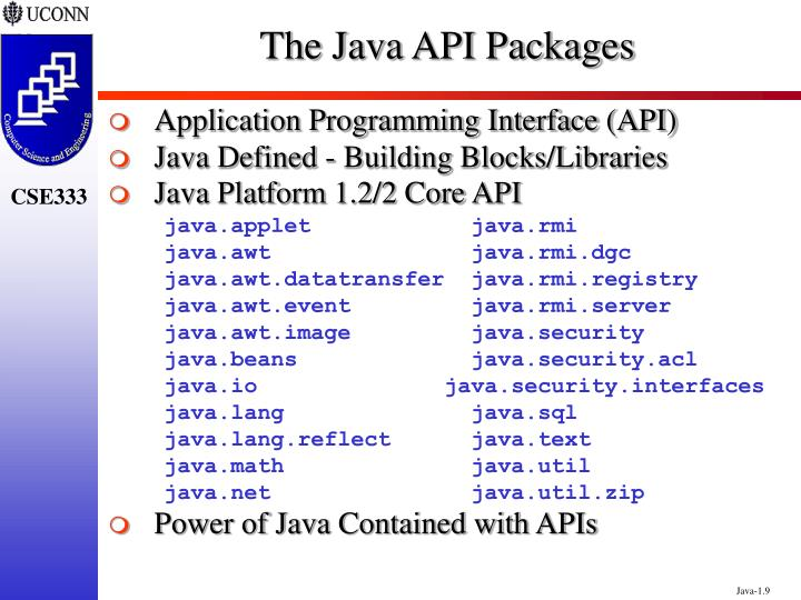 The Java API Packages