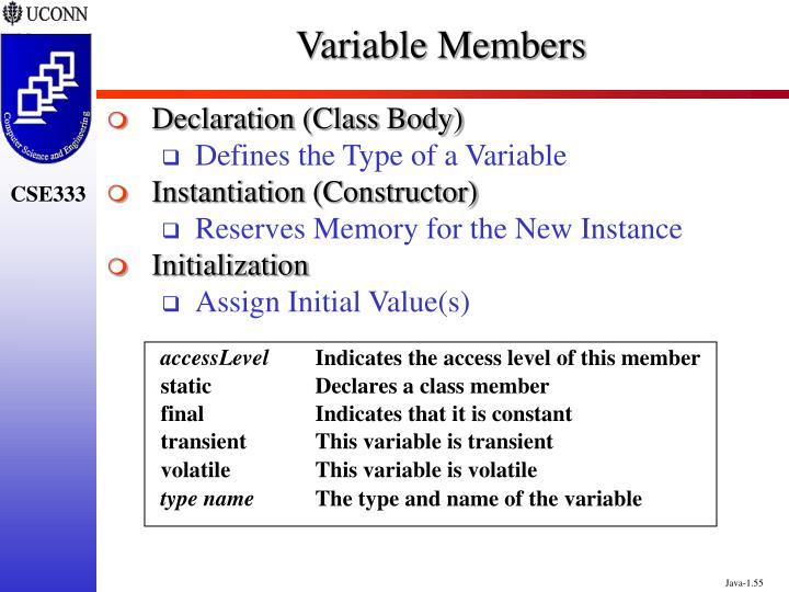 Variable Members