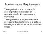 administrative requirements39