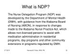 what is ndp