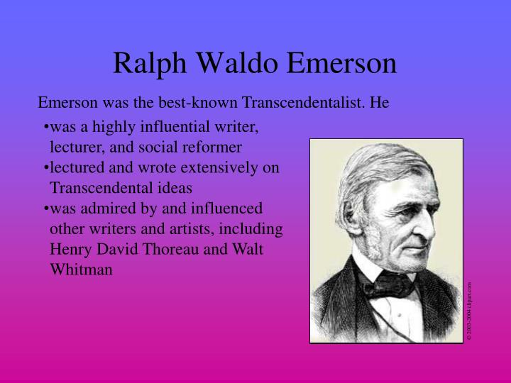 ralph waldo emerson vs walt whitman essay Get an answer for 'how did ralph waldo emerson's ideas about poetry influence walt whitman' and find homework help for other walt whitman, ralph waldo emerson questions at enotes.