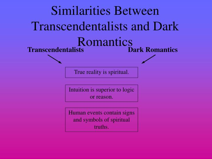 what is the difference between romanticism and transcendentalism