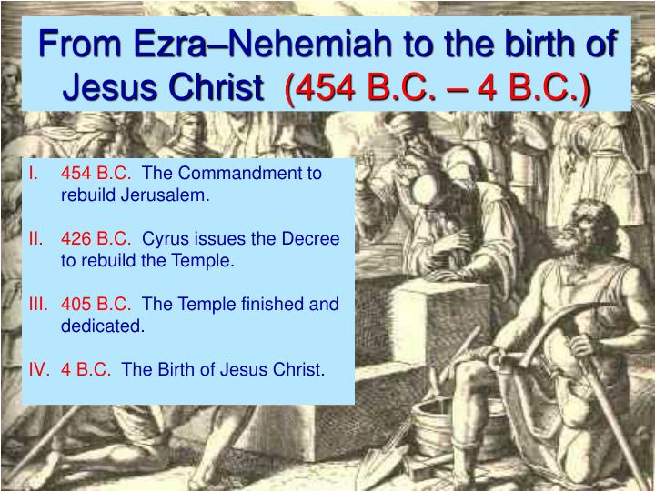 From Ezra–Nehemiah to the birth of Jesus Christ