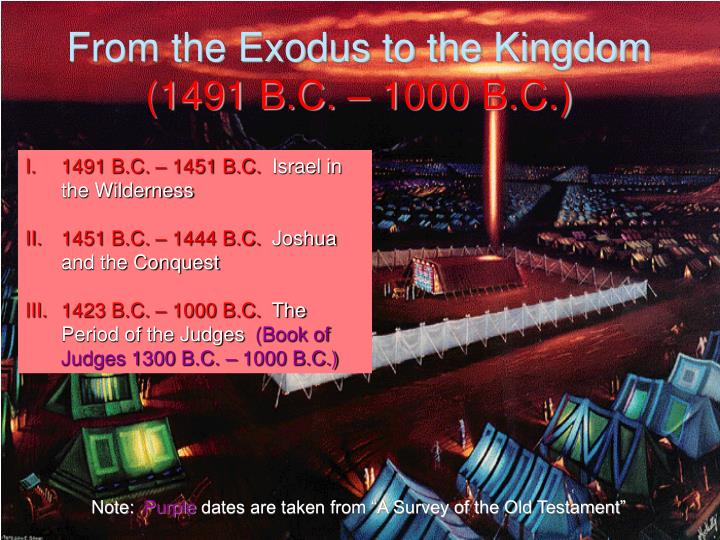 From the Exodus to the Kingdom