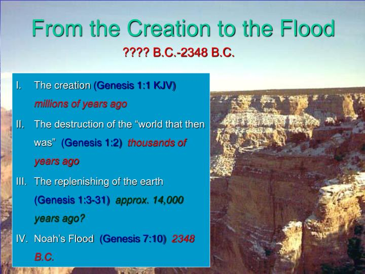 From the Creation to the Flood