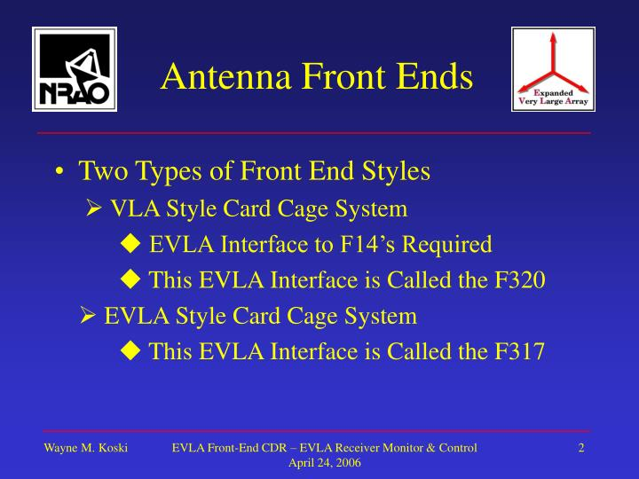 Antenna front ends