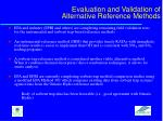 evaluation and validation of alternative reference methods