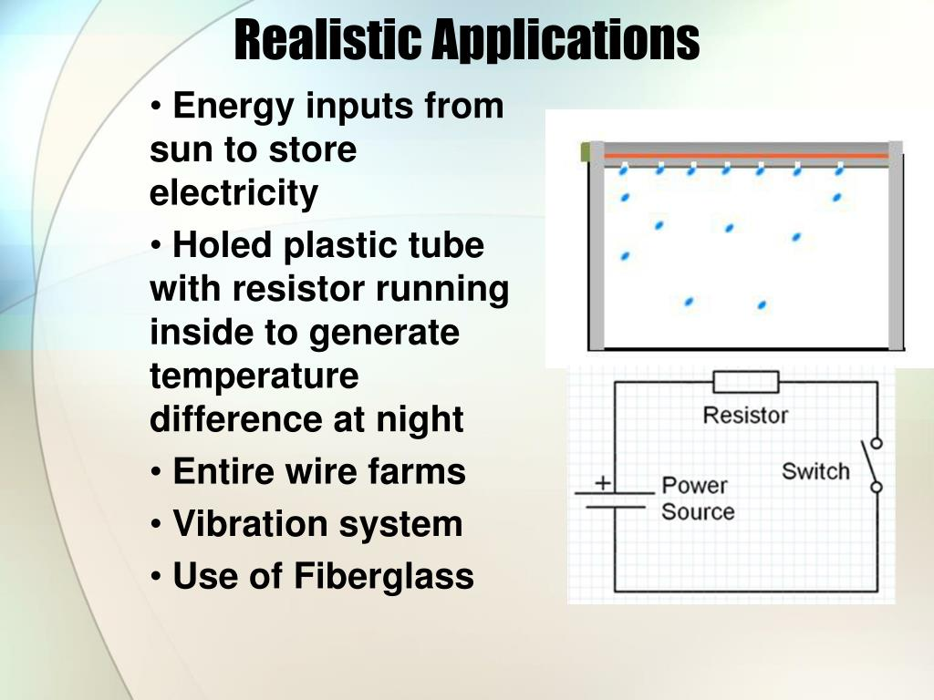 Realistic Applications