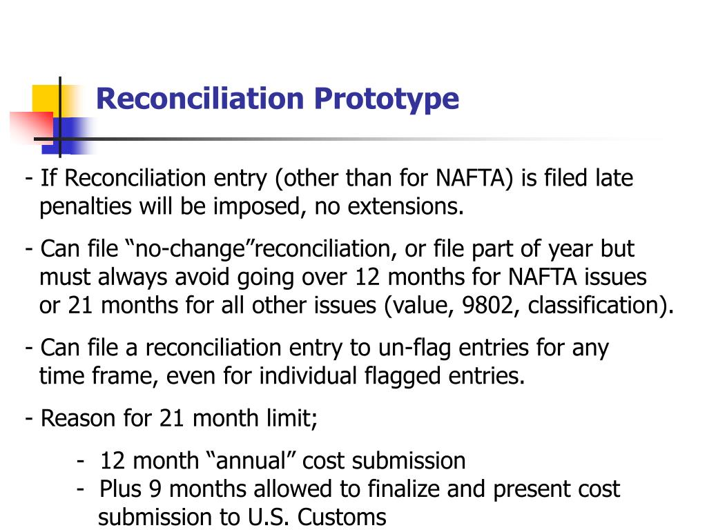 Reconciliation Prototype