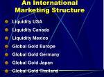 an international marketing structure