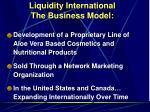 liquidity international the business model