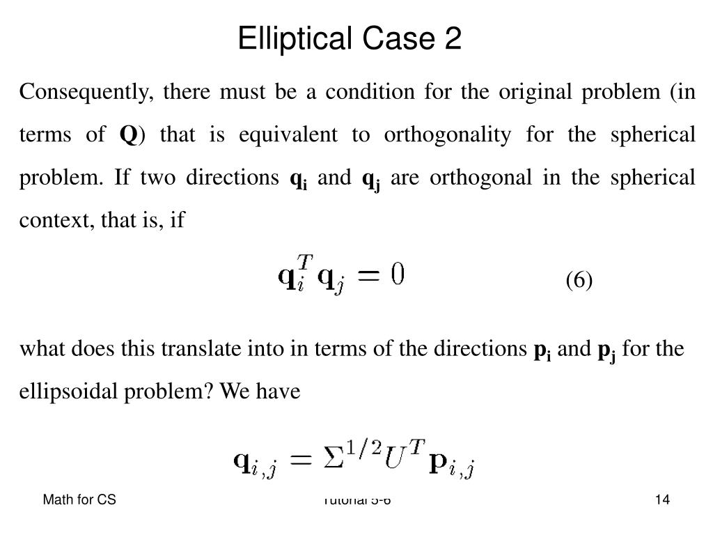 Consequently, there must be a condition for the original problem (in terms of