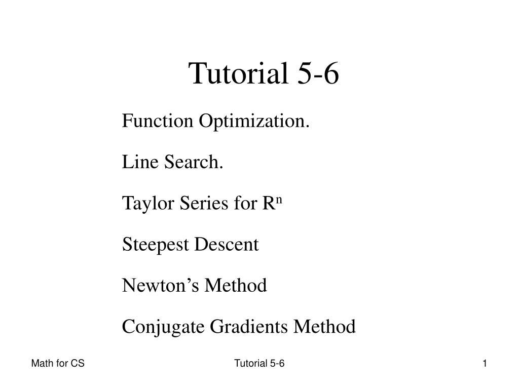 Tutorial 5-6