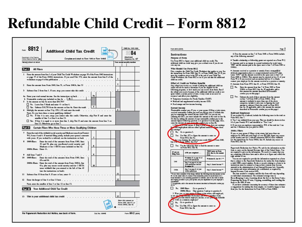Refundable Child Credit – Form 8812
