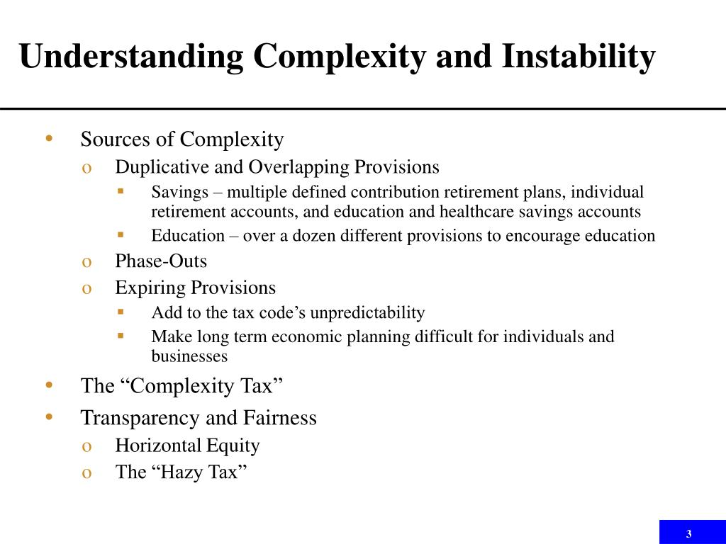 Understanding Complexity and Instability
